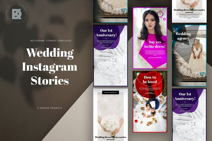 Thumbnail for Wedding Instagram Stories Pack