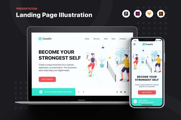 Thumbnail for CrossFit - Banner & Landing Page