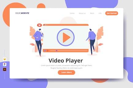Video Player - Zielseite