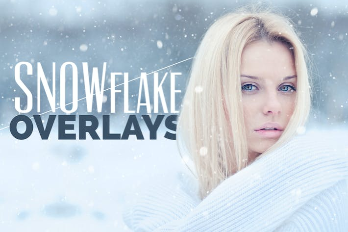 Thumbnail for Snowflake Photo Overlays