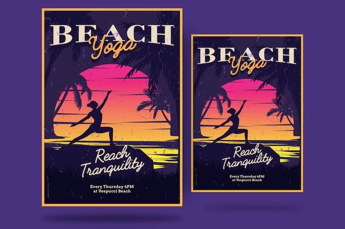 Thumbnail for Beach Yoga Flyer