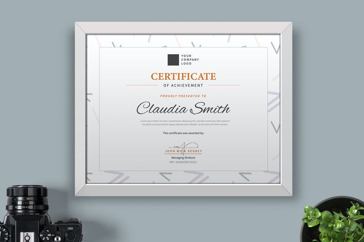 Cover Image For Certificate / Diploma Template Pro