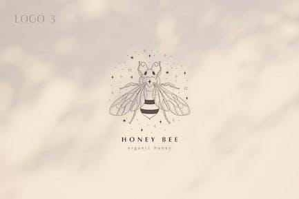 Premade Honey Bee Brand Logo Design for Blog.