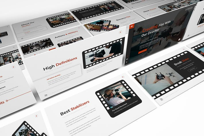 Thumbnail for Move Studios Powerpoint Template