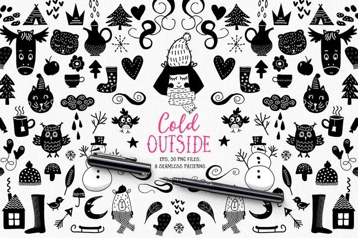Thumbnail for Cold Outside Winter Vectors