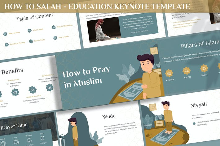 Thumbnail for How to Salah - Education Keynote Template
