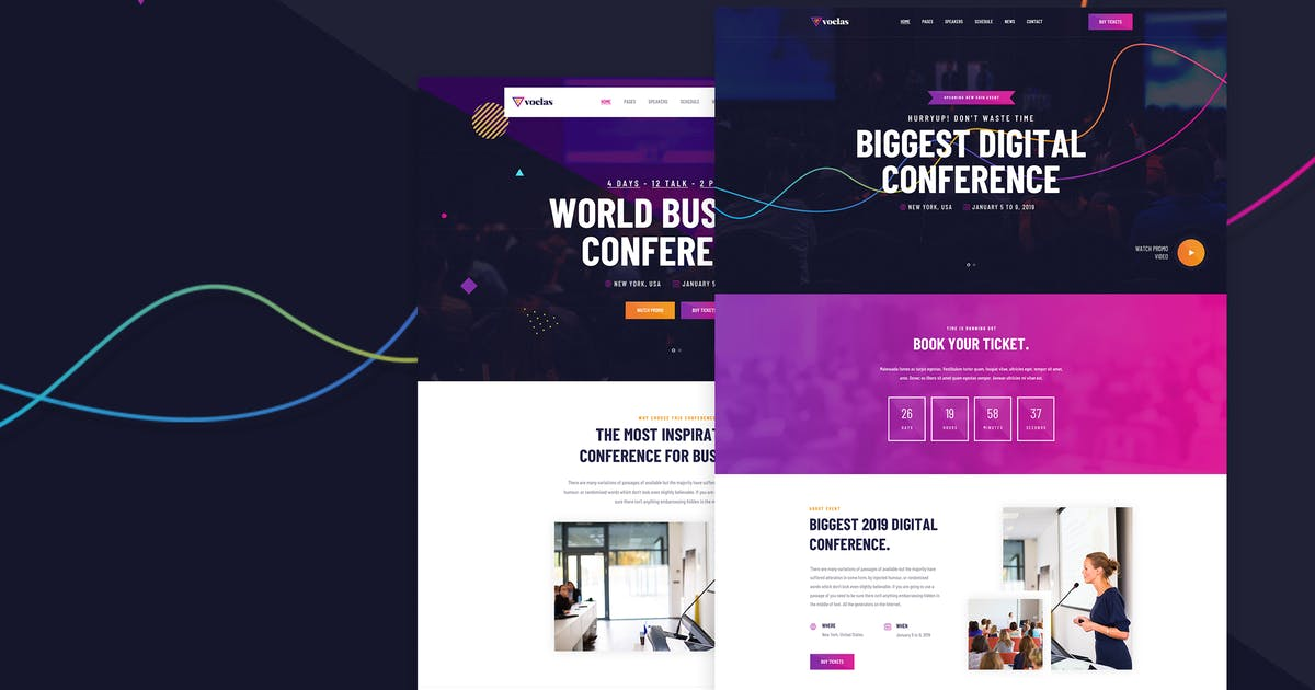 Download Voelas - Event & Conference HTML Template by dan_fisher
