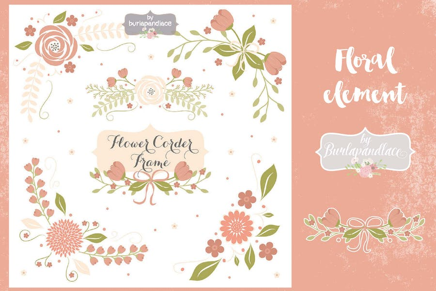 Floral corner clipart