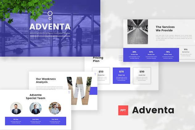 Advertising & Marketing Agency PowerPoint Template