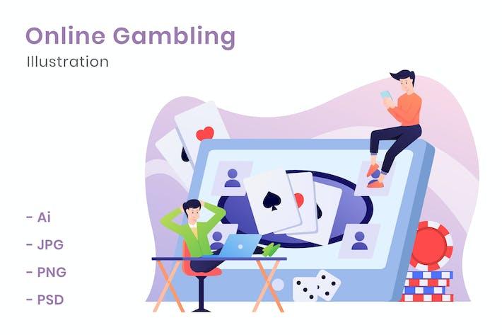 Thumbnail for Online-Glücksspiel-Illustration