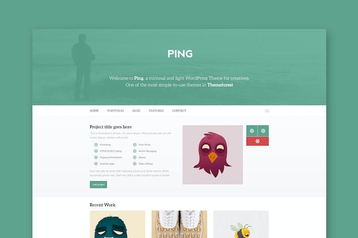 Thumbnail for Ping - Минимальный PSD Шаблон Портфолио