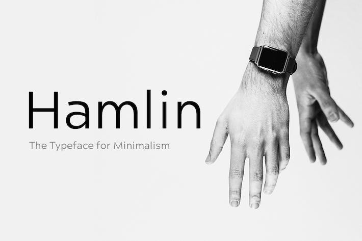 Cover Image For HAMLIN - Minimal Geometric Typeface + Web Fonts