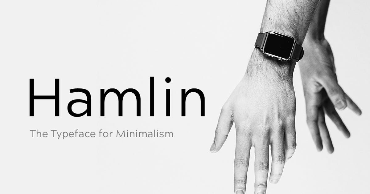 Download HAMLIN - Minimal Geometric Typeface + Web Fonts by designova