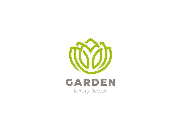 Thumbnail for Flower Tulip Lotus Yoga Logo design