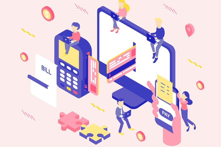 Thumbnail for Payment Option Isometric Illustration
