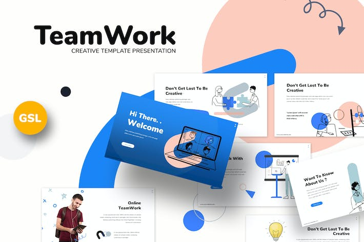 Thumbnail for Teamwork - Business Google Slides Template