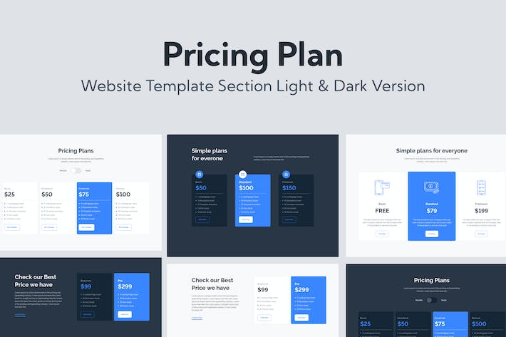 Thumbnail for Web Pricing Plan Section Template