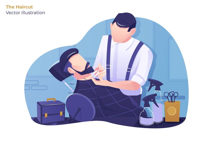Thumbnail for The Haircut - Vector Illustration