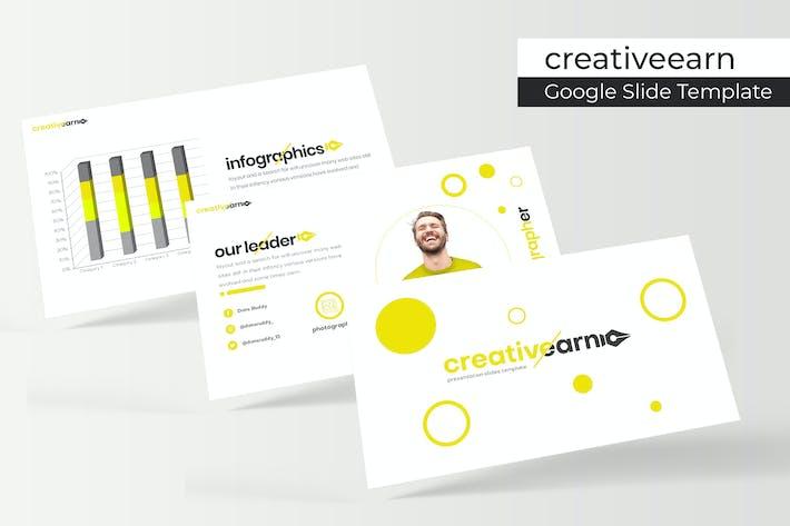 Cover Image For Creativeearn - Google Slide Template