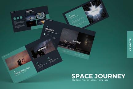 Viaje espacial - Plantilla de Keynote