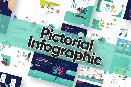 Pictorial Infogrphic Powerpoint Template