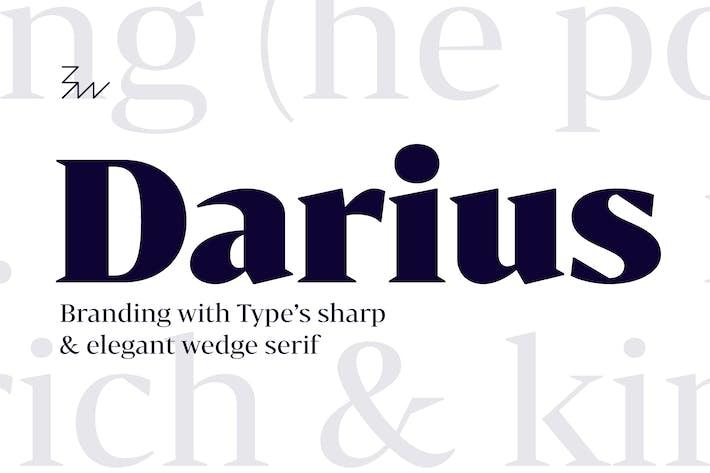 Thumbnail for Bw Darius font family