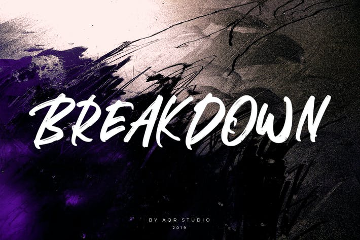 Cover Image For BREAKDOWN BRUSH FONT