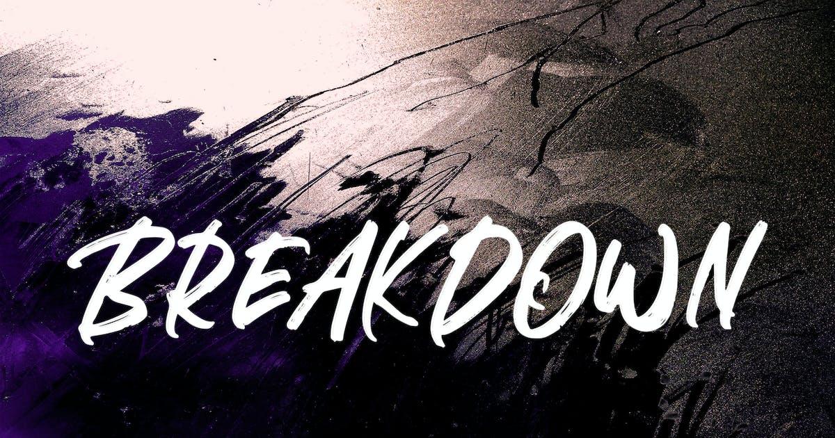 Download BREAKDOWN BRUSH FONT by aqrstudio