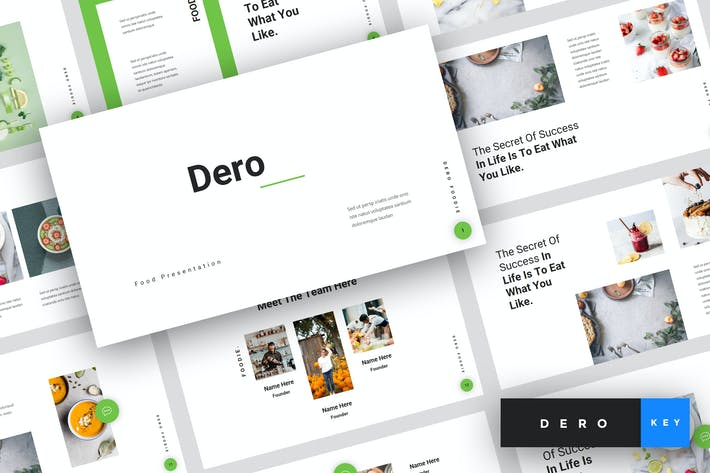 Thumbnail for Dero - Food Keynote Template