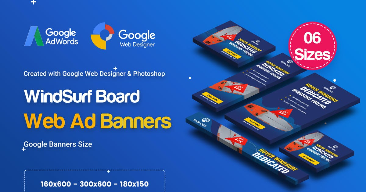 Download C40 - Surf's Up HTML5 Banners Ad - GWD & PSD by iDoodle