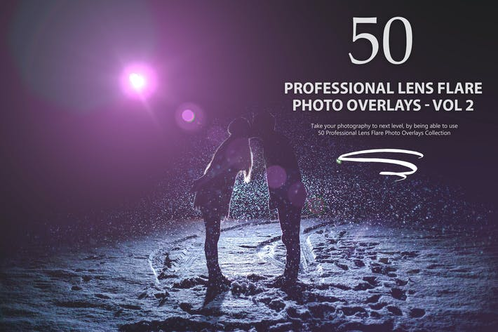 Thumbnail for 50 Professional Lens Flare Photo Overlays - Vol 2
