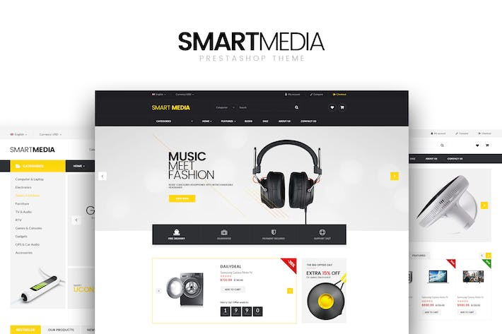 Thumbnail for Smart media Responsive Prestashop 1.6,1.7 Theme