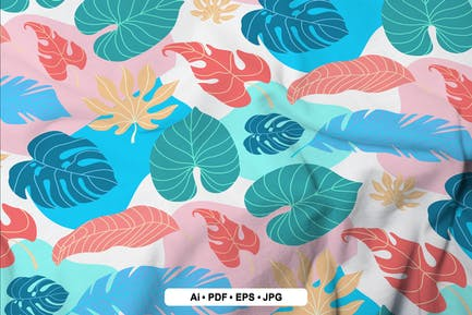 Tropisches Blatt-nahtloses Muster