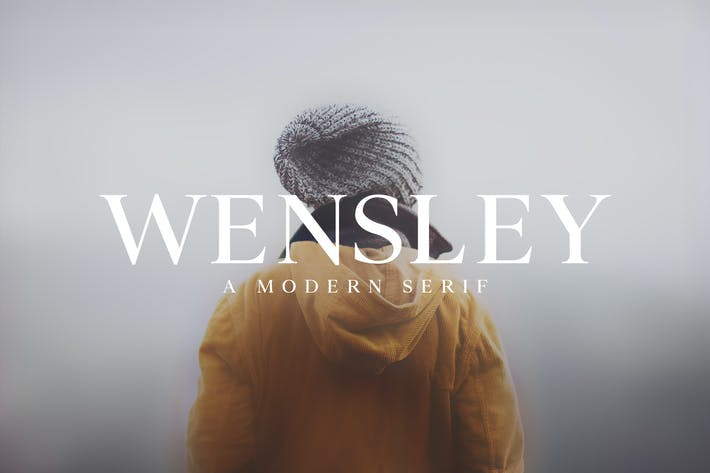 Cover Image For Wensley Modern Serif Font Family