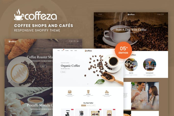 Thumbnail for Coffeza - Кофейни и кафе Shopify Тема