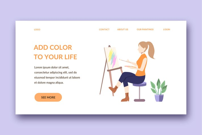 Thumbnail for painting landing page template