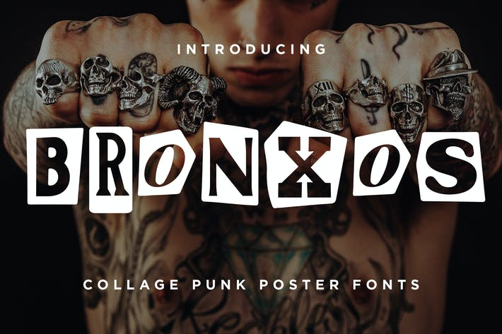 Thumbnail for Bronxos - Police d'affiche collage punk