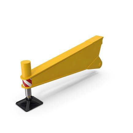 Crane Outrigger Yellow