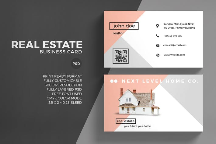 Cover Image For Real Estate Business Card Template