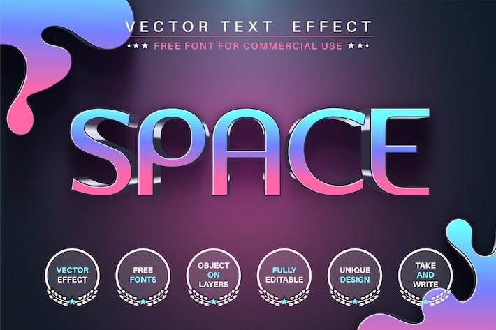 Пробел - редактируемый текстовый эффект, стиль шрифта