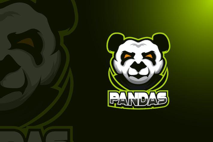 Thumbnail for Panda Maskottchen Logo Vorlage