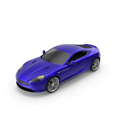 Interior sencillo de coche deportivo de lujo