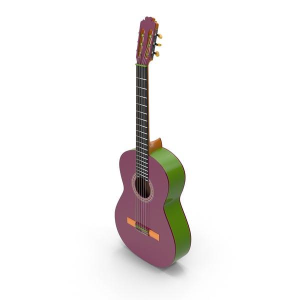 Многоцветная гитара