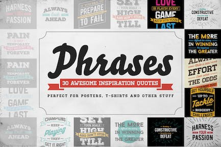 Phrases – 30 Inspiration Quotes