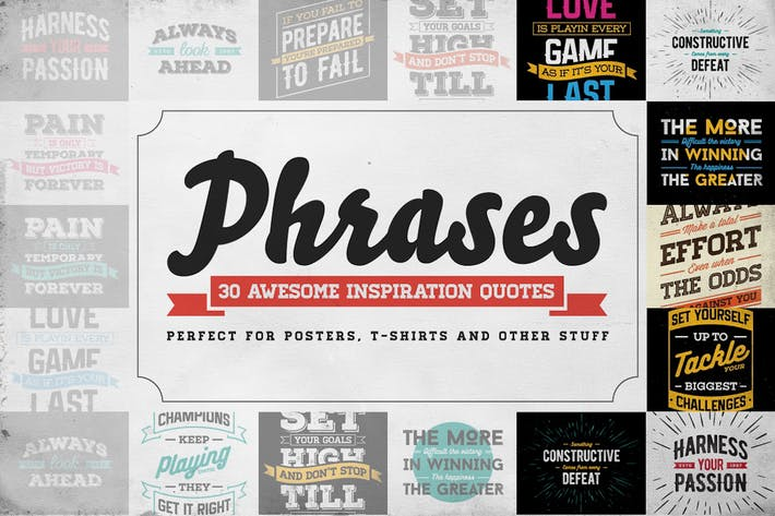 Thumbnail for Phrases – 30 Inspiration Quotes