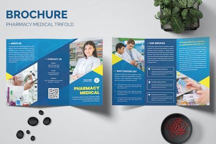 Pharmacy Medical Trifold Brochure Templates
