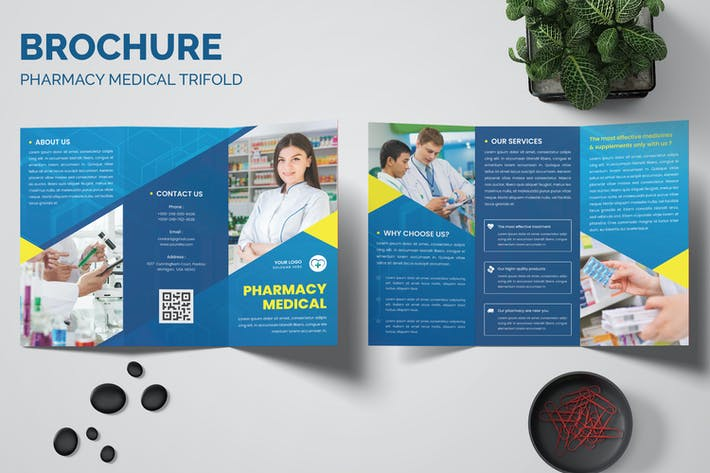Pharmacy Medical Trifold Brochure Templates