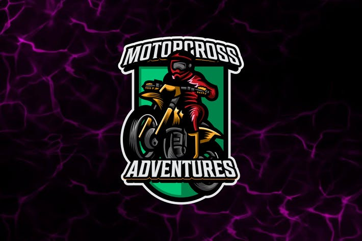 Motorcross - Motorbike Logo Template