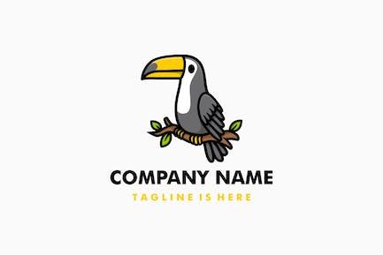 Cute Toucan Cartoon Logo