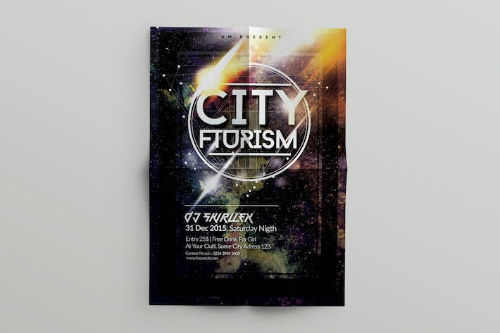 Thumbnail for Flyer Music Futurism template